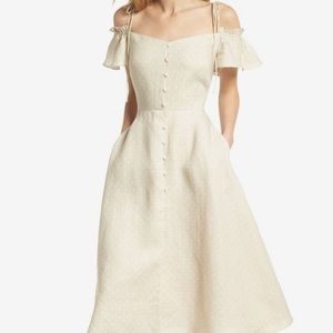 Gal meets glam Colleen polka dot midi linen dress
